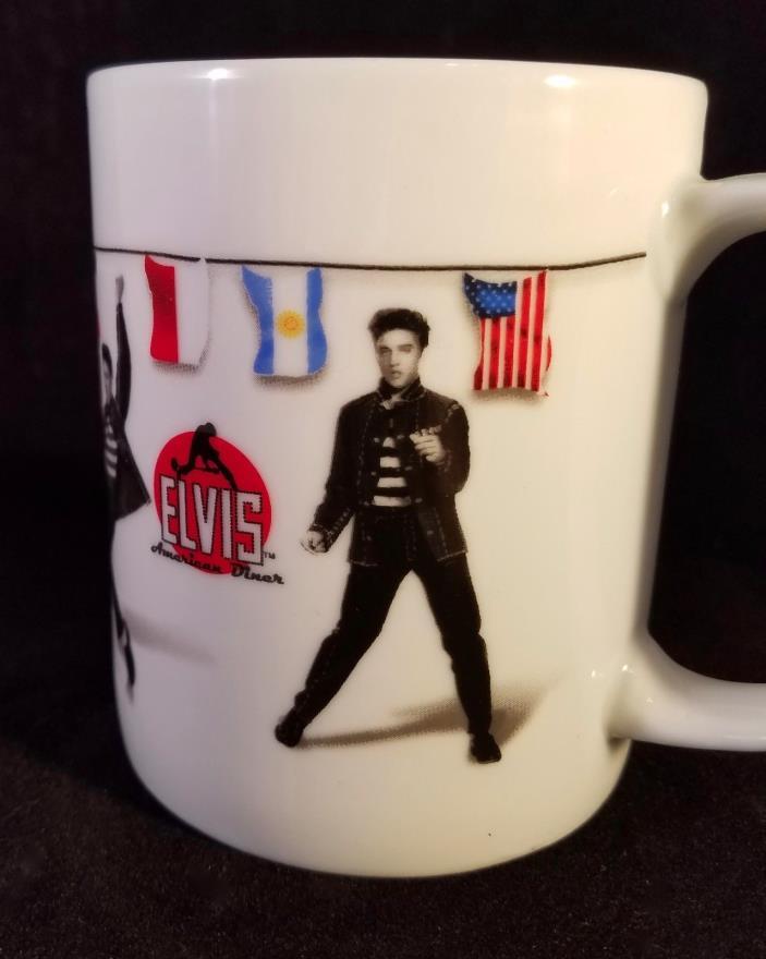 Elvis Jailhouse Rock Flags Coffee Tea Mug American Diner Tel Aviv Jerusalem 10oz