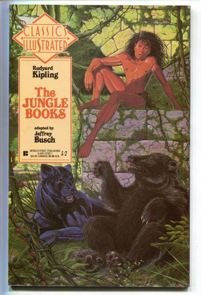 Classics Illustrated 20 First 1991 NM Jungle Book Rudyard Kipling