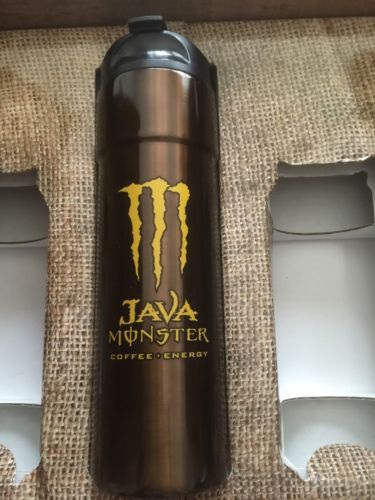 NEW JAVA Monster Energy Drink 16oz TUMBLER Salted Carmel Coffee NEW