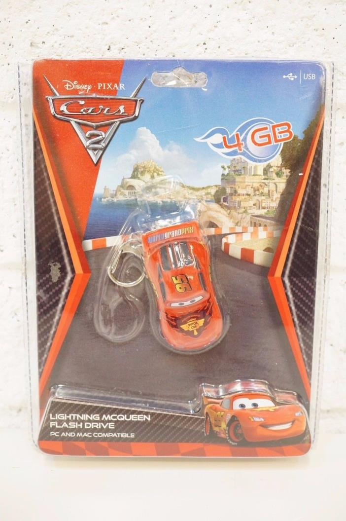 Disney Cars 2 Flash Drive with clip 4 GB USB Lightning McQueen 4GB