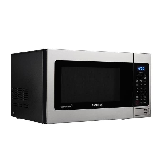 Samsung 1.1 cu. ft. Countertop Microwave Stainless Steel Ceramic Enamel Int. 562
