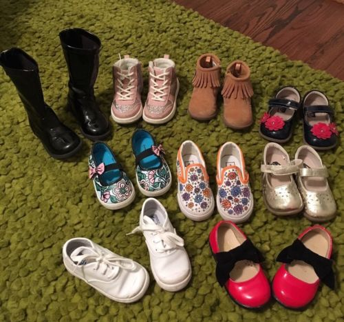 Toddler girl shoe lot 6T