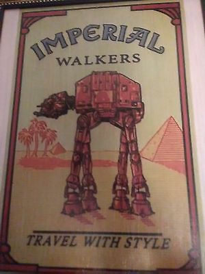 Imperial Walkers Star Wars Framed Wooden Fan Art Wall Hanging