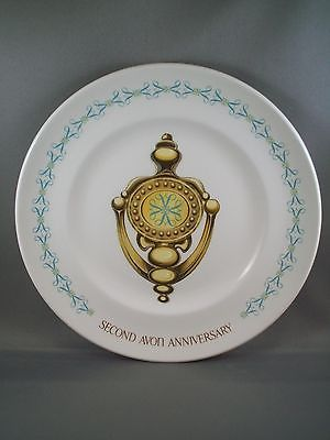 Vintage AVON Second Anniversary Doorknocker Plate - Blue Version for Sales Reps