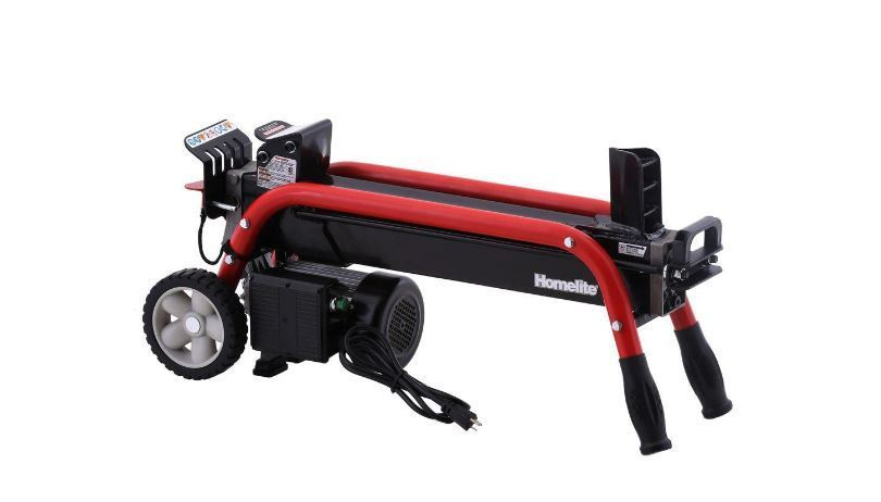 Homelite 5Ton Electric Log Splitter Makes Wood Splitting Easy Rugged Easy to Use