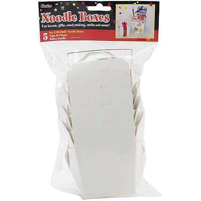 Chinese Paper Food Box 8oz 5/Pkg-White 652695861567