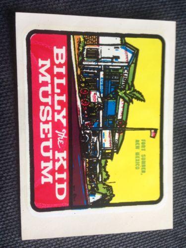Vintage Billy The Kid Museum Wax Sticker