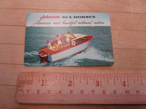 1956 Johnson Sea Horse Pocket Calendar Outboard Motor