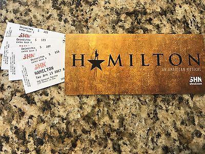 1-4 Hamilton San Francisco Orchestra Tickets! Great seats! Great price! 04/13/17