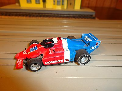 Ho Slot Tyco F1 Indy Car Domino's Pizza #30 Magnum 440x2 White Letter Tires