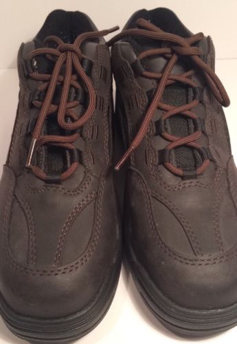 Red Wing Worx Women's #5110 Leather Athletic Style Safety Toe Size 9 WW EUC