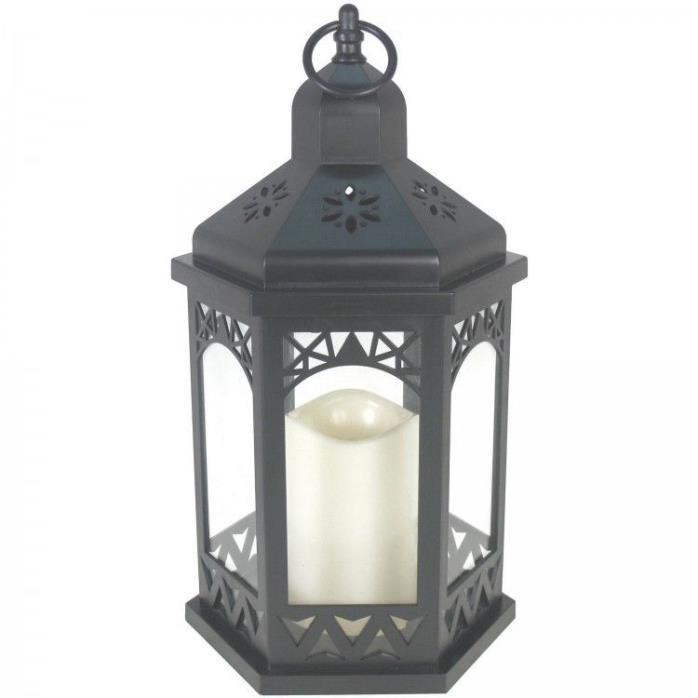 Lantern LED Black Plastic Home Garden Backyard Wedding Decoration