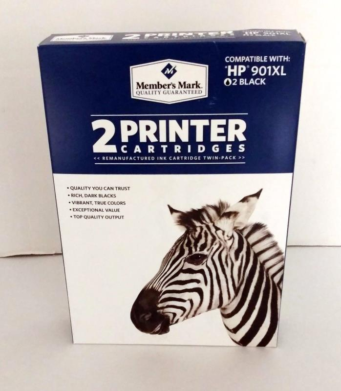 Members Mark Quality Multipack Ink Cartridges HP 901XL Black Ink