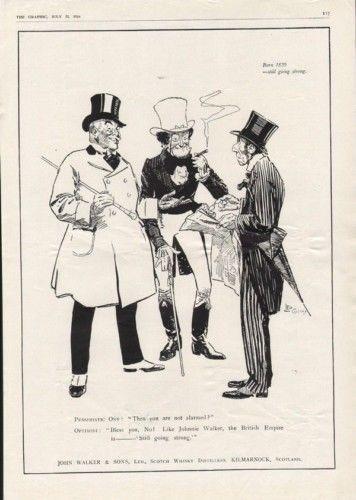1916 JOHN WALKER WHISKY RENEY SHOW SMOKE ALCOHOL SCOTCH8008