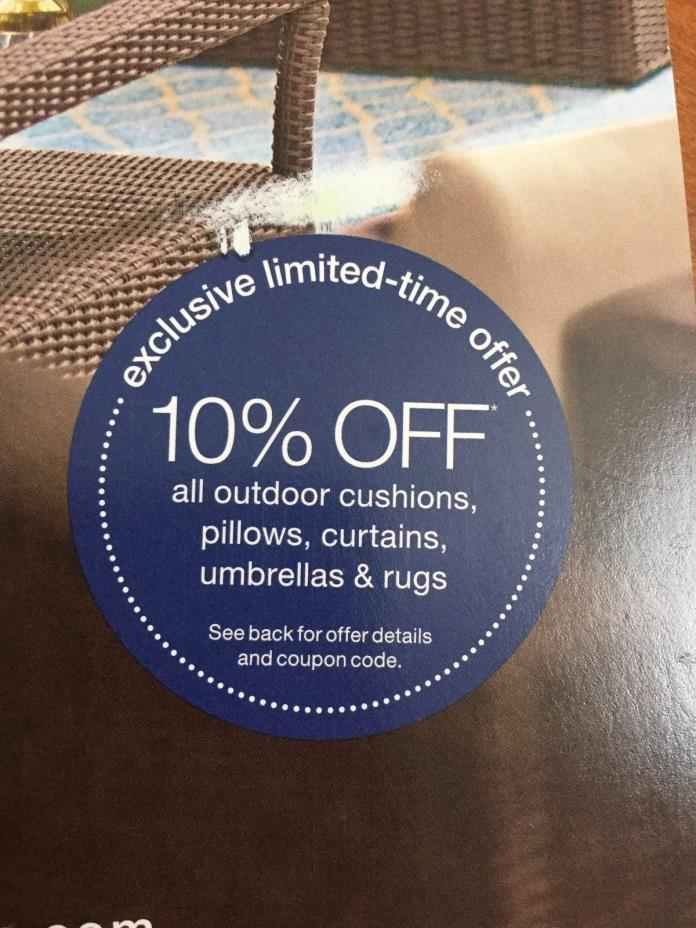 Home Decorators Collections 10% Off Outdoor Cushions Pillows Curtains Umbrellas