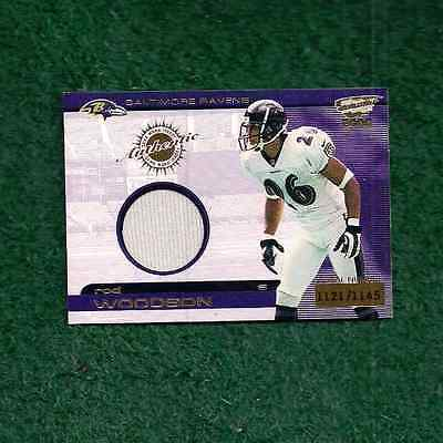 ROD WOODSON - NFL HOF - 1121/1145 - AUTHENTIC GAME WORN JERSEY CARD 2000 PACIFIC