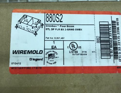 Wiremold 880S2Gang Floor Box