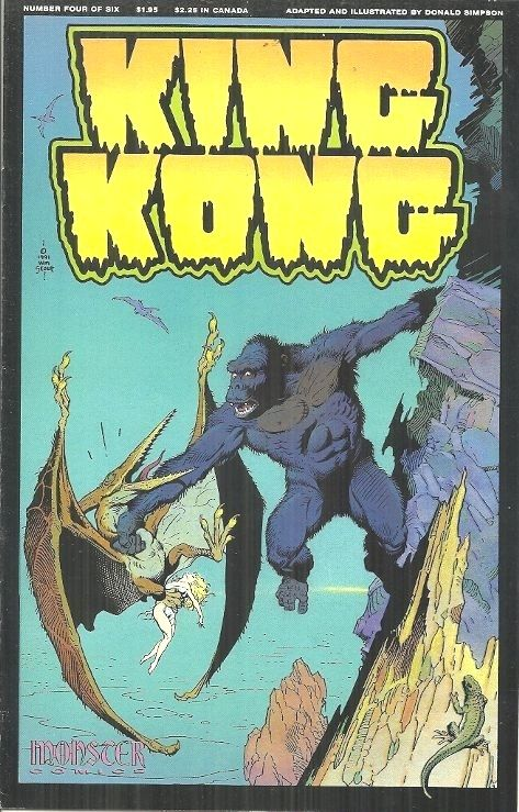 KING KONG #4, WILLIAM STOUT COVER, DON SIMPSON INSIDE - MONSTER COMICS JULY 1991