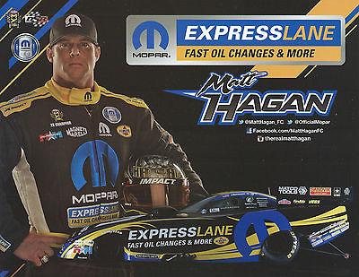 MATT HAGAN 2017 ? MOPAR EXPRESS LANE FAST OIL NHRA Drag Racing Funny Car HANDOUT