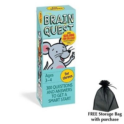 Brain Quest for Threes with free storage bag