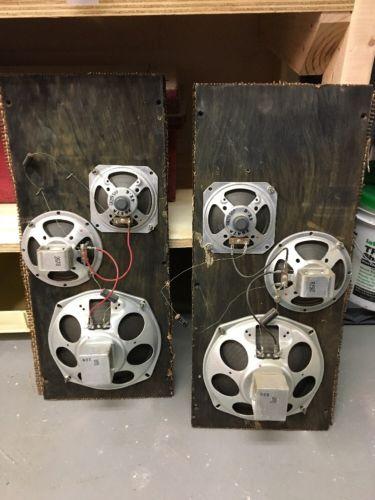 Vintage Vacuum Tube Stereo Console Speakers