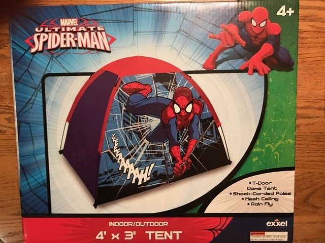 MARVEL ULTIMATE SPIDER-MAN Indoor or Outdoor 4' x 3' KIDS CAMPING TENT BRAND NEW