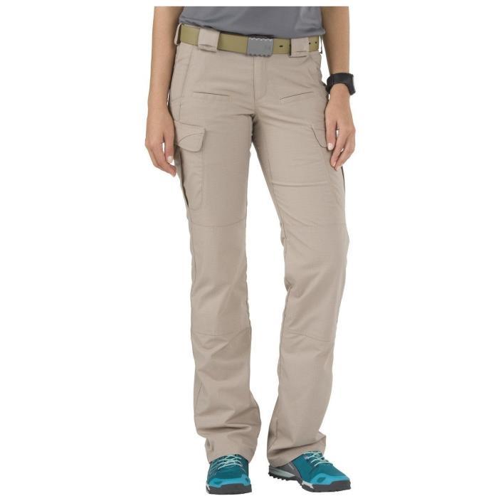 5.11 Tactical Pants Khaki Stryke Cargo Uniform Pants Womens 12 -R