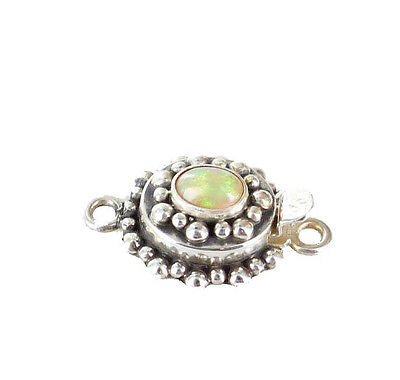 Ethiopian Welo Opal Clasp Sterling Light Color