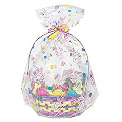 Easter Cello Basket Bags Gift Wrap Cellophane Bags -Bag a Basket - 22 X 25 - 4