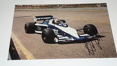 NELSON PIQUET SIGNED BRABHAM BMW PHOTO