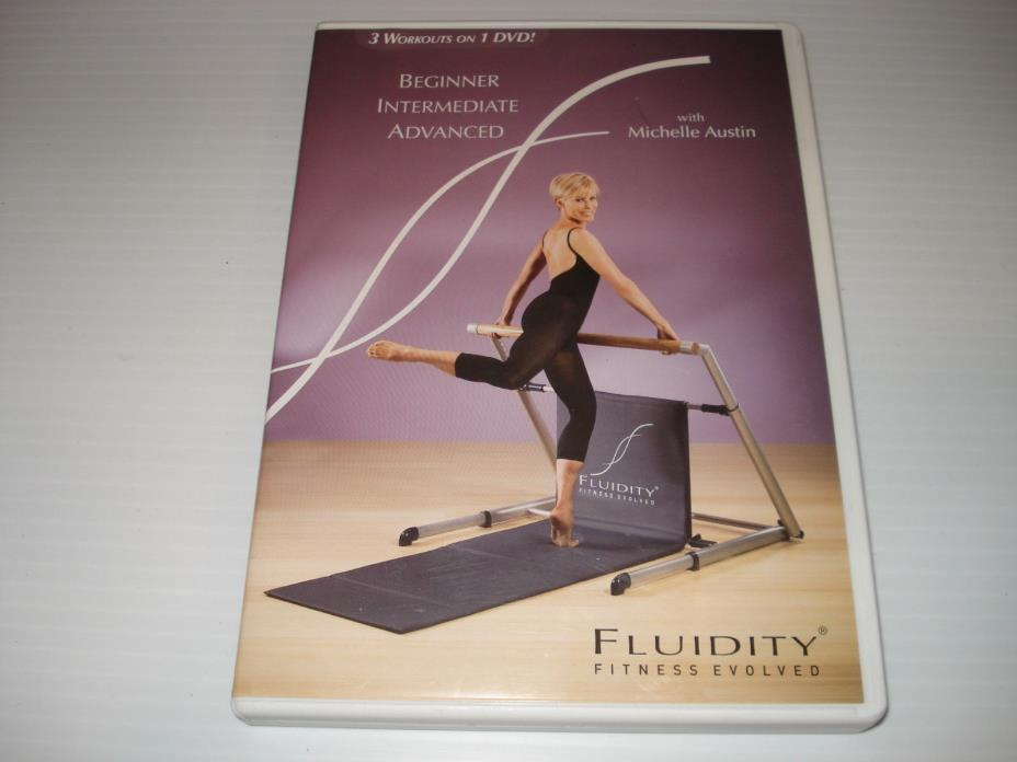 FLUIDITY Fitness Beginner DVD Michelle Austin Bar Workout Total Body Fitness dvd