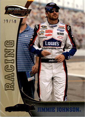 2009 Press Pass Fusion Gold #70 Jimmie Johnson 29/50 - NM-MT