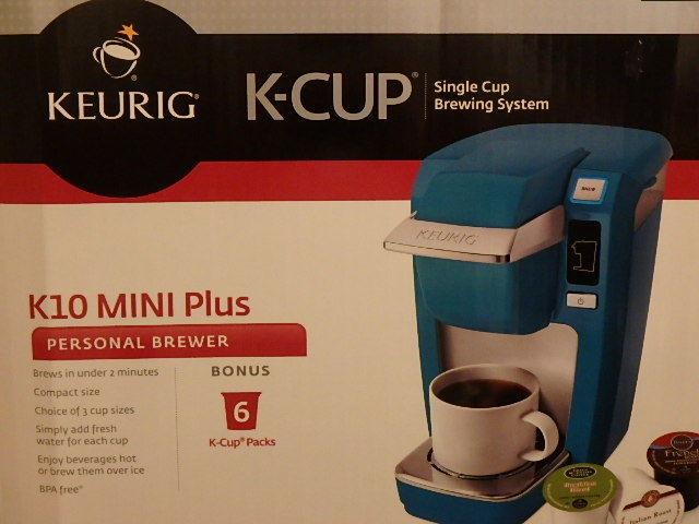 KEURIG MINI COFFEE BREWING COFFEE MAKER SYSTEM BRAND NEW K10 TEAL