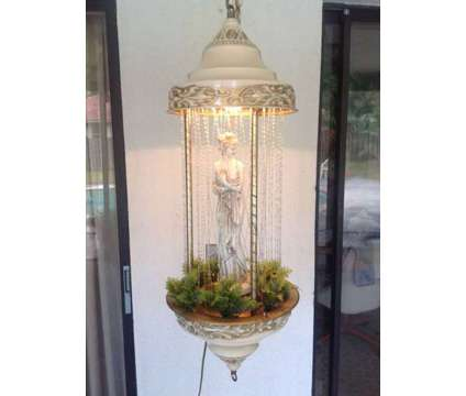Vintage Hanging Oil Rain Lamp - Excellent Condition