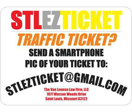 #STLEZTICKET Got a Traffic Ticket in the Greater Saint Louis Area
