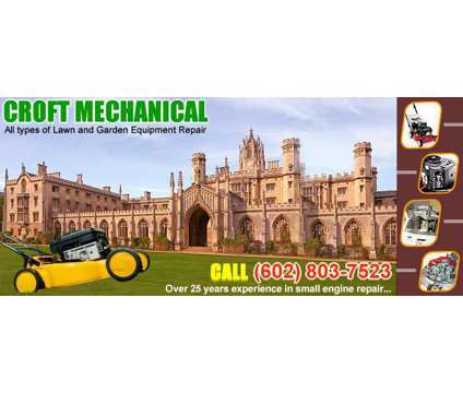 Repair service (while you wait). Lawnmower, Riding mower , and small engine