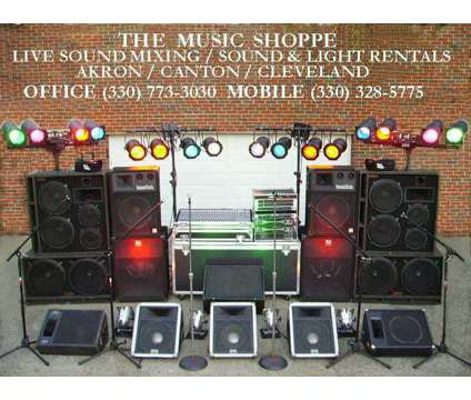 Akron Canton Sound System PA Rental, AV Rental, Stage Lights, Karaoke