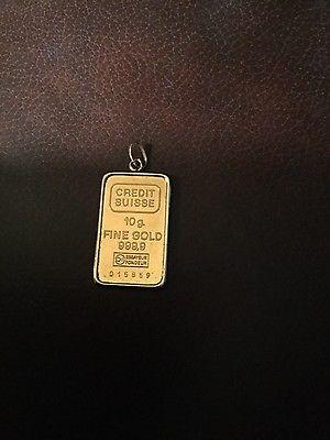 10 gram Credit Suisse Gold Ingot