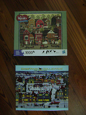 Charles Wysocki's Jigsaw Puzzle AMERICANA & HOMETOWN Collection  (2) 1000 pcs