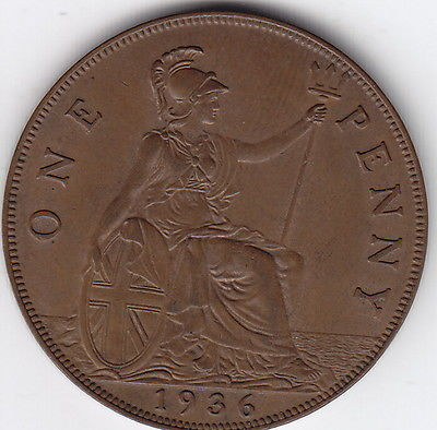 1936 UK – Great Britain – Penny Coin