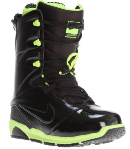 Nike Zoom Ites Rare Snowboard Boots Size 12 400 524915-007 RARE Black Neon