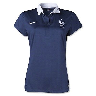 NWT Nike France Soccer Jersey Women's Size Large 2014 World Cup Blue Shirt L