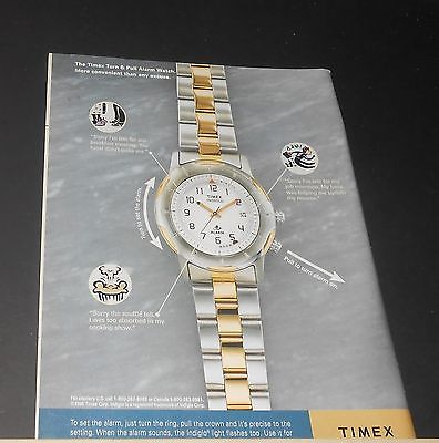 1993 TIMEX Turn and Pull Alarm Watch Advert