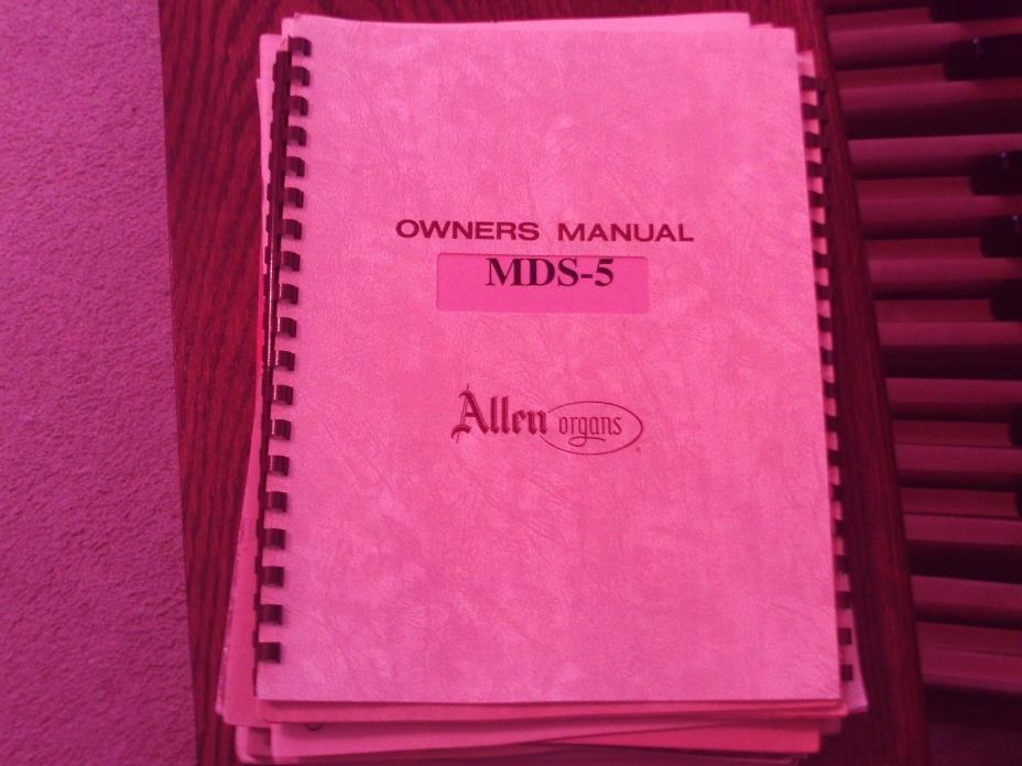 Allen Organ MDS-5 Owner's Manual