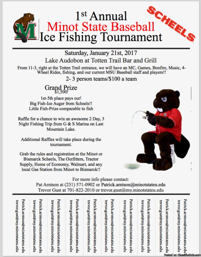 Minot State University Baseball Ice Fishing Tournament