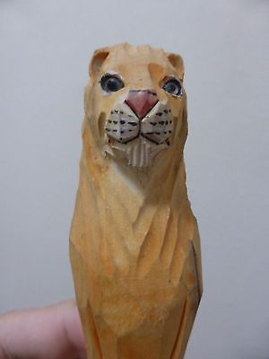 Lion Carving African Hand Sculpted - South Africa Art