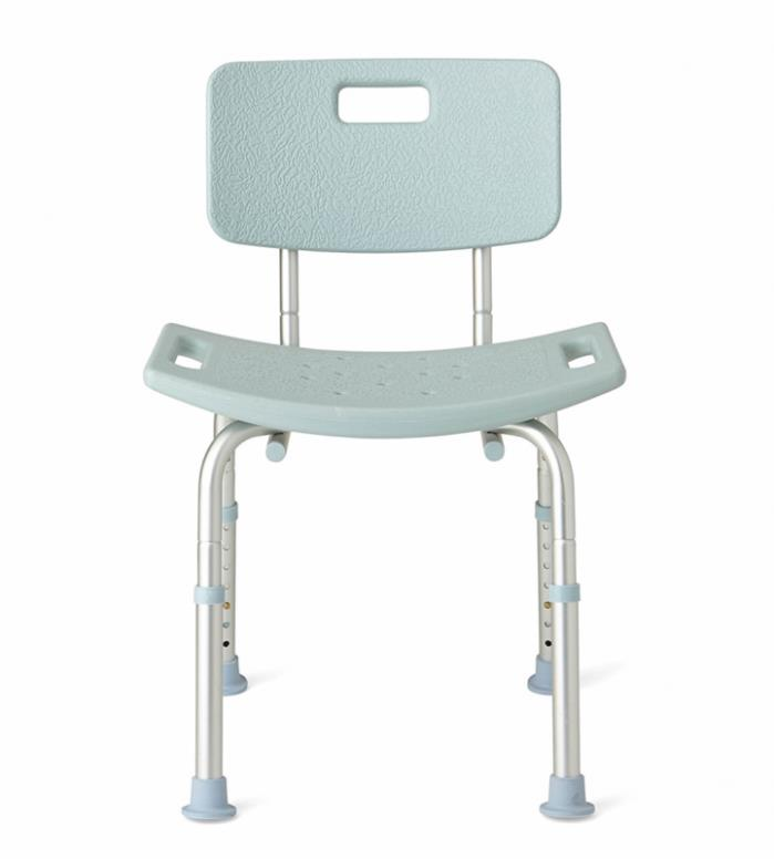 Medline Bath Bench with Back, Microban