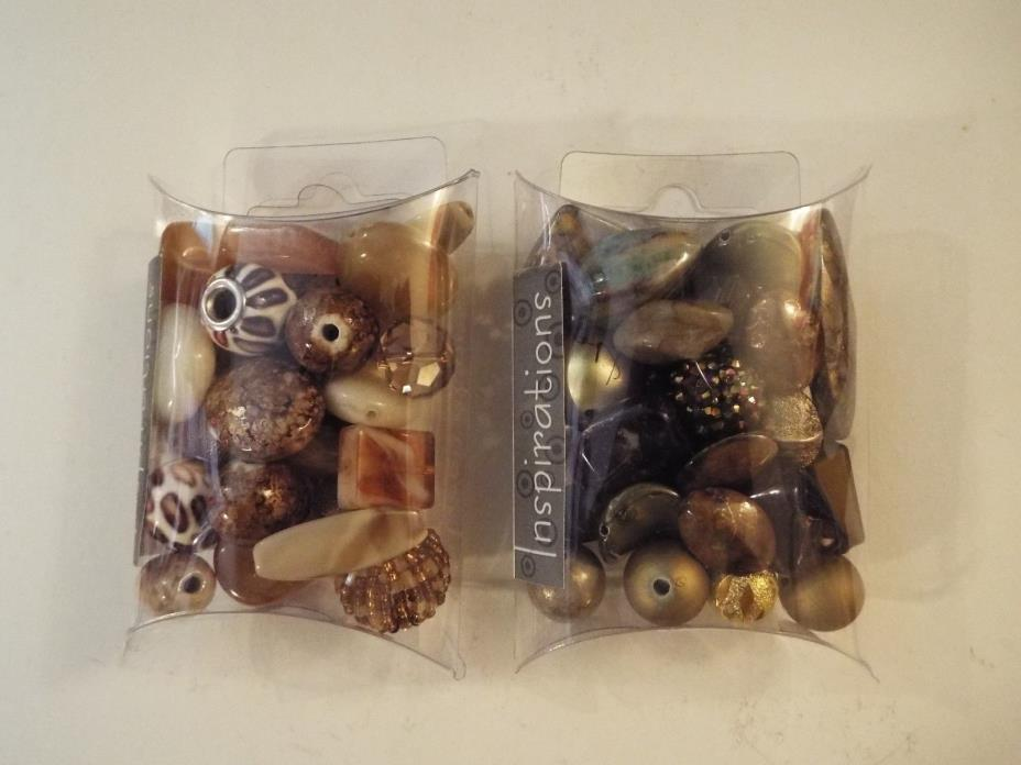 2 NEW-jesse james inspiration beads-natural beauty #5755 & banana creme #5761