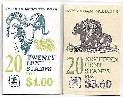US Bighorn 20-cent stamps & American Wildlife 18-cent stamp booklets