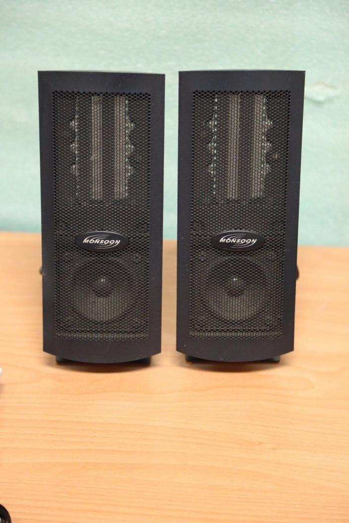 Monsoon MH-500 Right and Left PC Computer Speakers